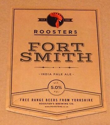 ROOSTERS brewery FORT SMITH cask ale beer badge front pump clip Harrogate Yorks