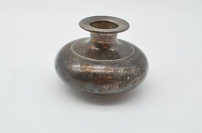 """Vintage Sterling Silver Small Vase, 2.5"""" tall - Marked 329 7  - 88 Grams"""