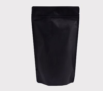 Stand Up Pouch Resealable ZipLock Bag Food Grade BLACK MATTE SUP Heat Seal USA