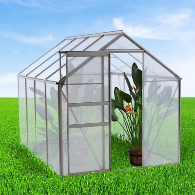 oGrow WALK-IN Lawn & Garden Greenhouse w/Heavy Duty Aluminum Frame 6x4/6x6/6x8'