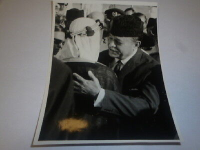 Foto Pakistan HIs Majesty KIng Faisal at Krachi Pakistan President 1966 Pressefo