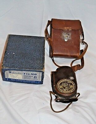Vintage Bell & Howell Filmo Double 8 Camera with Leather Case & Box