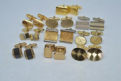 Collection of 10 pairs of Vintage Art Deco Cufflinks for wearing or Resale #14