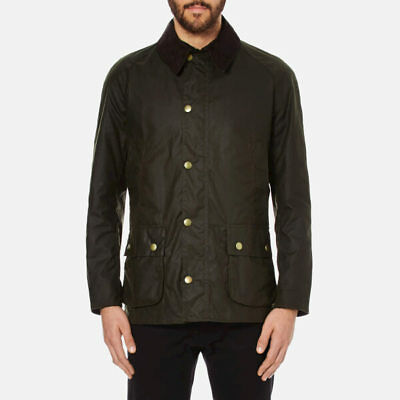 NWT Men's Barbour Ashby Wax Jacket Olive Size M