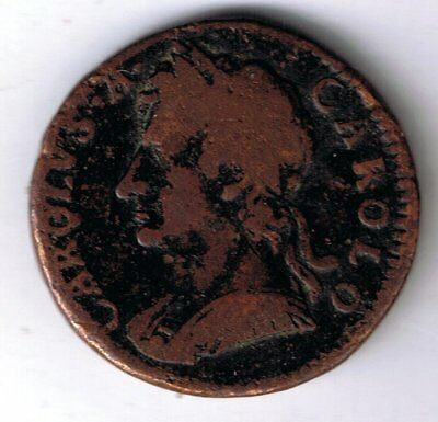 1675 Charles II farthing 1/4d coin