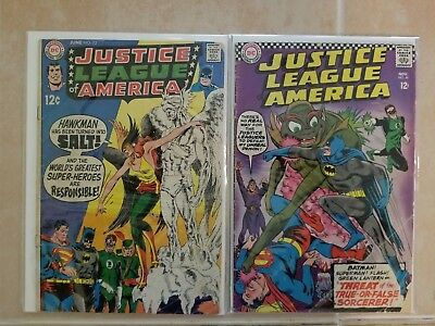 ( 2 ) 12 Cent Justice League Of America / 49 And 72 Both Vg