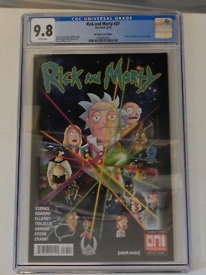 """Rick And Morty #37 """"Infinity Gauntlet Homage Cover"""" The Brain Trust Edition CGC"""