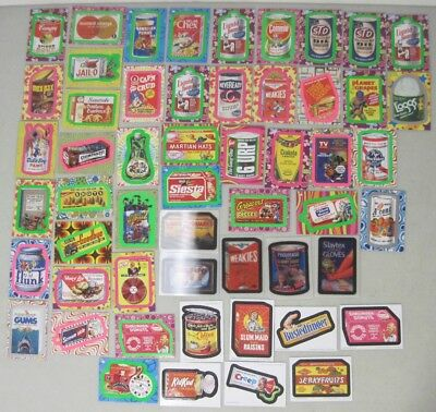 Lot Of Wacky Pack Flashback Cards - Motion Bonus Magnet