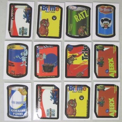 Lot Of 12 Topps 2007 Wacky Packs Trading Card Stickers