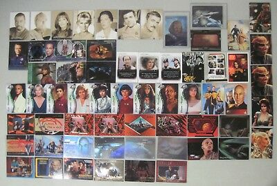Lot Of 62 Star Trek Insert & Chase Trading Cards Movies Tng Ds9 Voyager & More