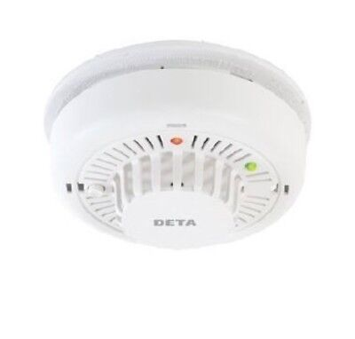 replaces 1115 Deta 1155 Hard Wired Mains Heat Alarm with 9V Battery Back Up