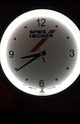 "16"" Round Chrome Spies Hecker Clock with Light ( %50 OFF! ) NEW IN BOX!"