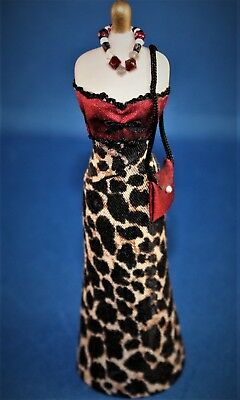OOAK Artist Offering Dollhouse Miniature Dress And Purse New 1:12 Scale