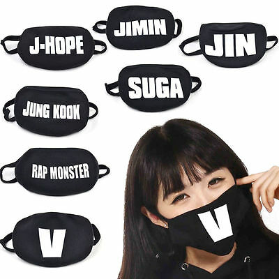 KPOP BTS Bangtan Boys Cycling Anti-Dust Cotton Mouth Face Mask Respirator Black