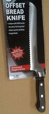 """8"""" Off-Set BREAD & SANDWICH Knife No Stain High Carbon Blade NSF Black Handle"""