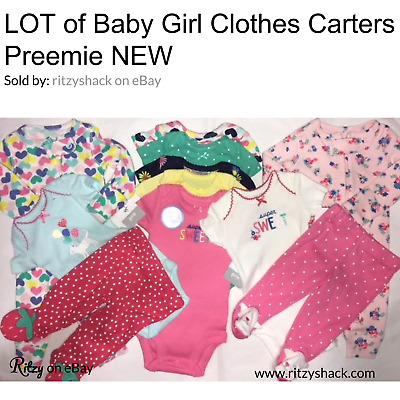 63cd28f06 Carters Baby Girl Clothes Preemie Newborn Infant Lot 11 NEW. Carters1007