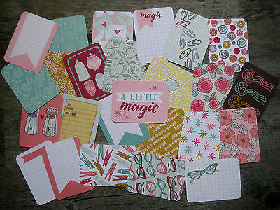 """'knick Knack' Project Life Cards By Becky Higgins - 3"""" X 4"""" - 25 Cards"""