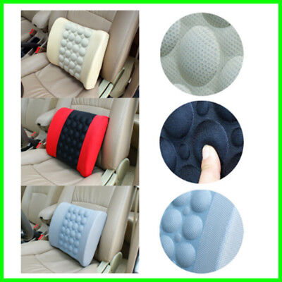 Lower Back Lumbar Support Cushion Electric Vibration Massager Car Seat DC12V