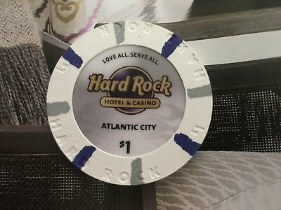 Hard Rock Casino Atlantic City Chip Paulson $1 (Grand Opening)