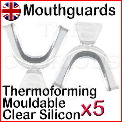 Mouldable Thermoforming Silicon Mouth Guard Teeth Whitening  Bruxism Sports x5