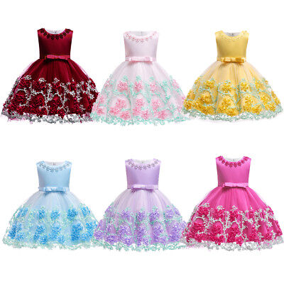 Baby Flower Girl Tulle Princess Bow Dress for Toddler Wedding Birthday Pageant