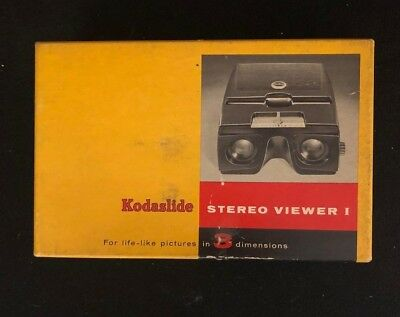 Kodaslide Stereo Viewer I With Four Boxes of Slides from 1959