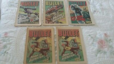 bullet comics job lot 5 issues 143 - 146 (2x 146) from Nov 1978 good condition