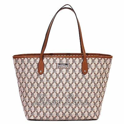 RALPH LAUREN Helston Classic Lauren Tan TOTE Brown LARGE Faux Leather PURSE  NWT 822f14f539bd4