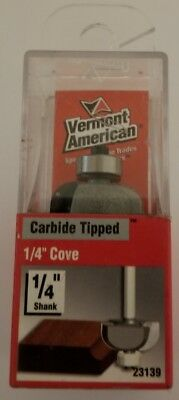 "Vermont American 23139 Carbide Tipped, 1/4"" Cove Router Bit"
