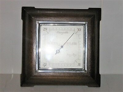 Vintage SmithS Wall Mounted Oak Cased Barometer