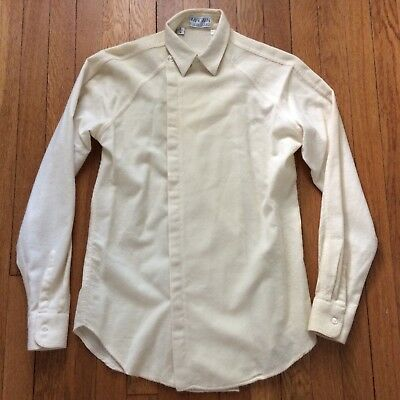 Vintage 1970's I. Magnin CASHMERE & Wool Button Front Shirt Size Small ITALY