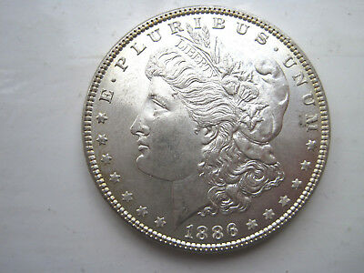USA Silver Morgan Dollar dated 1886 P mint