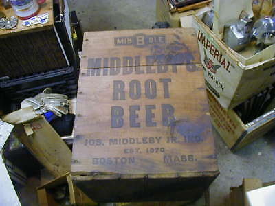 Vintage Large Middleby Root Beer Shipping box crate Boston, MA syrup dispenser