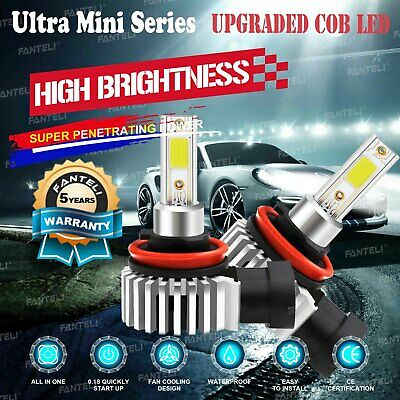 2240W 336000LM CREE LED Headlight Kit H11 H9 H8 6000K Low beam Fog Bulbs Power