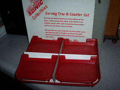 America's Drive-In Sonic Collectible Serving Tray & Coaster Set In Box