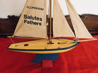 1956 Florsheim & Star Yacht Father's Day store display, nice #4 STAR pond yacht