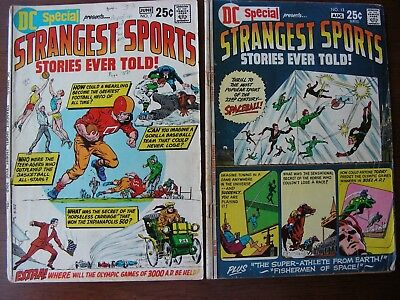 DC Special Strangest Sports Stories Lot of 2 #7 & 13, GD/VG, 1970