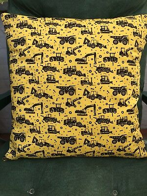 "Diggers and Dump Trucks 16"" x 16"" Cushion Cover"