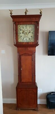 Antique Longcase Grandfather Clock.