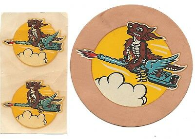 USAAF Las Vegas Nevada Flexible Aerial Gunnery School Patch With Two Decals
