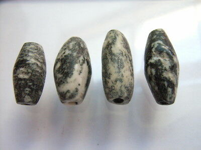 4 Ancient Neolithic Granite Beads, Stone Age, RARE !!