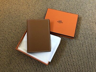 Hermes Brown Calfskin Leather Pocket Agenda Cover, boxed with tag
