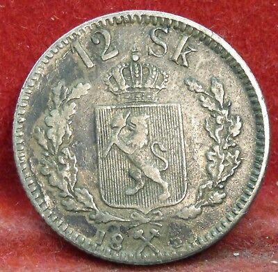 NORWAY 1853 Silver 12 Skilling Coin
