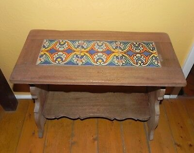 Vintage California Tile, End/ Sofa Table, Taylor, Tudor, D & M, Hispano Moresque