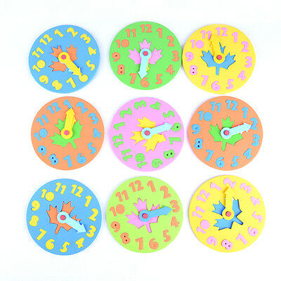 EVA Foam Number Clock Time Jigsaw Puzzle  Kids Learning Toy Free Shipping 、 LJ