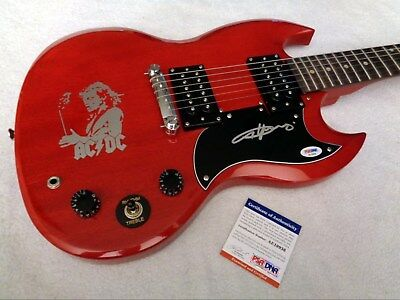 ANGUS YOUNG (AC/DC) Autographed Signed Epiphone SG Guitar w/ PSA/DNA COA!