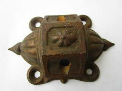 Antique Victorian Cast Iron Wall Mount Bracket For Double Oil Lamps