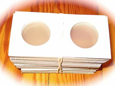 200 BCW 2X2 Cardboard Coin Safe Holders Mylar Coin Flips Any Size