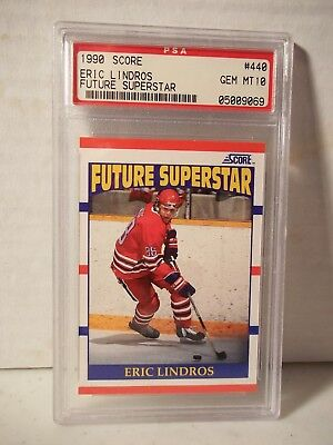 1990 Score Eric Lindros Rookie PSA Gem Mint 10 Hockey Card #440 NHL Collectible