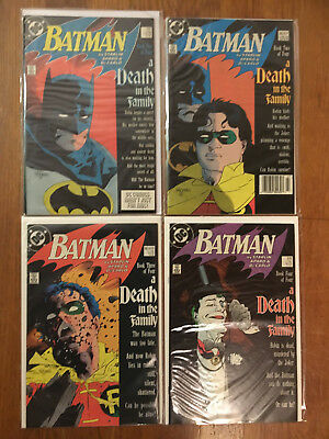 """Batman #426, 427, 428, 429 """"A Death in the Family"""" COMPLETE VF/NM (Robin Death)"""
